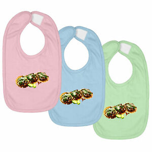 Soft Taco Delicious Food Infant Baby Bib Hook & Loop Closure Shower Gift 3-Piece