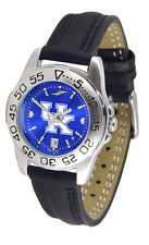 Kentucky Wildcats Licensed Women Ladies Sport Leather AnoChrome Watch
