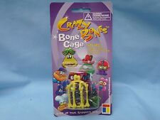 Crazy Bones BONE CAGE includes 1 bone,necklace string, keychain  NIP yellow