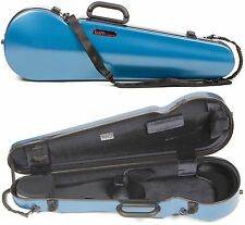 Bam France 2002XL Contoured Hightech 4/4 Violin Case with Azure Blue Finish