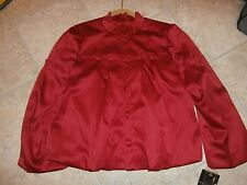 NWT Womens RED Satin Jacket SIZE LARGE