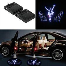 2 x Wireless Car Door LED Michael Jacks Logo Ghost Welcome Light Laser Projector