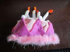 Princess Birthday Girl Crown Cake Candles Hat Feathers Felt play fun celebrate