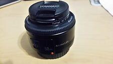 Yongnuo 50 mm f1,8 AF Autofokus Standard Porträt Objektiv z.B. Canon EOS