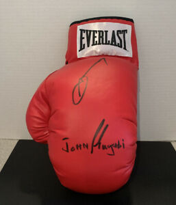 "JOHN ""The Beast"" MUGABI & SUGAR RAY LEONARD Autograph Signed Glove - RARE"