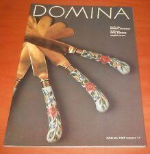 rivista DOMINA 11/1987 - Domus Academy, posate e porcellana, Ginori, Moretti