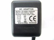 0.5A/500MA 15 V 7.5VA AC/AC di Uscita Adattatore Di Alimentazione Rete/fornitura/Caricatore/Trasformatore