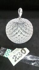 Vintage Lead Crystal Apple Shaped Papper Weight