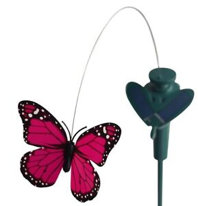 7002 Solar Dancing Fluttering Butterfly Garden Decor Yard Stake Assorted Color