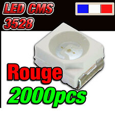 188/2000# LED rouge CMS 3528 250mcd  ** 2000 pcs **  SMD RED  PLcc2 TL