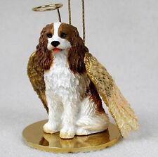 CAVALIER KING CHARLES (BRN) ANGEL DOG CHRISTMAS ORNAMENT HOLIDAY Figurine Statue