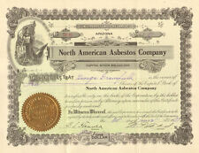 North American Asbestos Company > 1909 Arizona stock certificate
