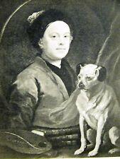 William Hogarth and His Dog SELF PORTRAIT 1947 DOG Art Print Matted