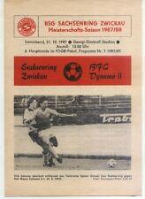 Comedores-trofeo 87/88 ZEPA Sajonia anillo Zwickau-BFC Dynamo II, 31.10.1987
