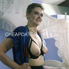 CDWA-0598 ORIGINAL VINTAGE TRANSPARENCY SOLO ART POSED BUSTY OR LEGGY NUDE