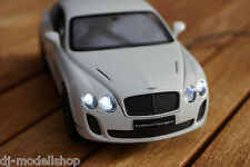 BENTLEY CONTINENTAL SUPERSPORTS MIT LED BELEUCHTUNG(XENON) IN 1:24 WEIß TUNING