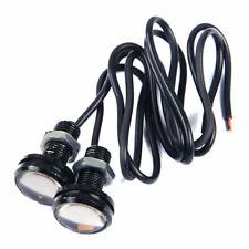 2x 23mm 12V Amber 12 LED Eagle Eye Fog Light Lamp DRL Backup Daytime Running mn