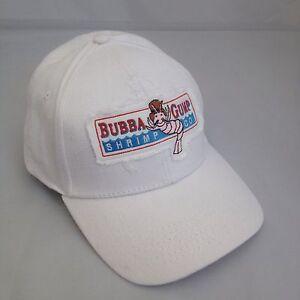 Bubba Gump Shrimp Embroidered Baseball Cap, Hat White.