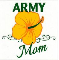 Army Mom - Hibiscus Decal Sticker
