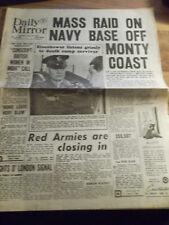 ORIGINALE giornale in lingua inglese-Daily Mirror del 19.04.1945 2. guerra mondiale aliierte