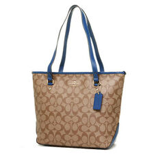 Coach Bag F34603 Signature Zip Top Tote Bright Mineral Agsbeagle bcsale