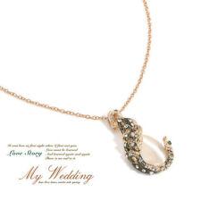 Fashion Women Elegant Jewelry Peacock Opal Crystal Rhinestone Earrings Necklace