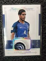 Raphael Varane Panini Soccer Card France English NM~EX Jersey Swatch