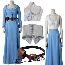 Original Westworld Dolores Blue Dresses Cosplay Costume Custom Size Full Suit