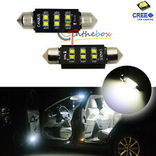 2X CAN-bus HID White 42mm 6-CREE LED Bulbs For Interior Dome Light 211-2 578 560