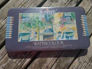 Derwent 72 Watercolor Pencil Metal Tin Set