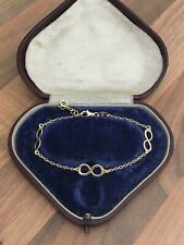 "Dyadema Italy 7"" Marked Sterling Silver Gold Overlay Love Knot Bracelet 2.6gr"
