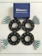 2x10mm+2x15mm Bimecc Black Alloy Wheel Spacers Silver Bolts - BMW E90 E92 E93 M3
