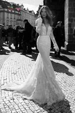 Mermaid & Trumpet Lace Long Sleeve V Neck Wedding Dresses