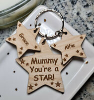 PERSONALISED MOTHERS DAY GIFTS FOR HER BIRTHDAY GIFT KEYRING MUM NAN MUMMY NANNY