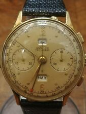 Cronografo Angelus Chronodato full calendar 18 ct gold filled oversize