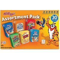 Kellogg's Breakfast Cereal Mini Boxes Assorted 2.39 oz Box 30/Carton 14746