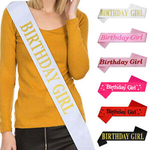 BIRTHDAY GIRL Sash in Multicolor - Sashes Accessory Party Decoration Girls Night