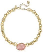 Kate Spade Perfectly Imperfect Chunky Link Pink Stone Collar Necklace Jk1