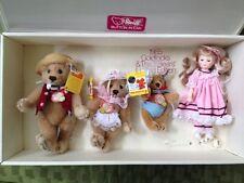 ❤Steiff Goldilocks and Three Bears Ltd Ed set NRFB SIGNED B Steiff Gibson Doll❤