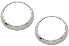48-54 Chevy/Gmc Truck Headlamp Bezels Rings Polished Stainless w/Clips (Pair) (Fits: Gmc)