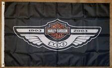 Harley Davidson 100th Anniversary  3 x 5 Feet Flag Banner Gararge Man Cave