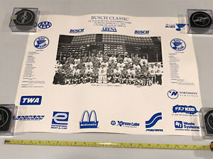 1994 St. Louis Blues Alumni Oldtimers Game Team Photo Poster Arena SGA Souvenir