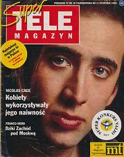 TELE MAGAZYN 93/44 (30/10/93) NICOLAS CAGE LIV ULLMANN KIEFER SUTHERLAND HOPPE