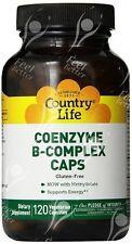 Country Life, libre de gluten, coenzima del complejo B, Tapas, x120vcaps