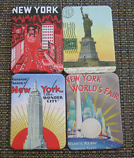 4 Ny Magnets New 1-5/8 x 2-1/4 New York City Worlds Fair Statue Of Liberty