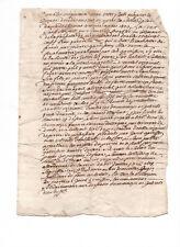 1726 King Louis XIV Marquis de Castelneau manuscript letter unsigned