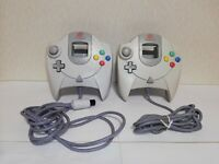 Dreamcast Official Controller HKT-7700 White color 2set SEGA Tested  from Japan