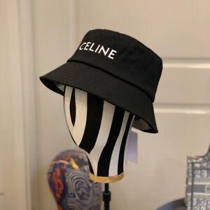 Celine Fisherman Hat Cap Size Medium Black