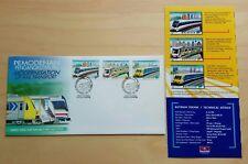 1998 Malaysia Modernisation Rail Transport 3v Stamps FDC (Kuala Lumpur Cachet)