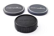 """Excellent++++"" Minolta Front Metal Cap 52mm ,55mm w/ Rear Cap From Japan #01152"